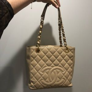 Chanel Caviar PST Chain Shoulder Shopping Tote